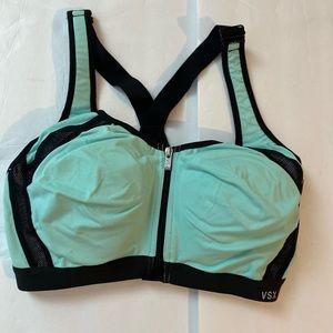 Victoria's Secret Sport green black bralette 34D